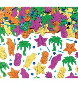 Konfetti tropisk flerfärgade