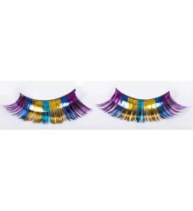 Lösögonfransar flerfärgad glitter