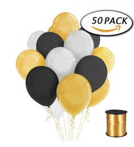 50 eleganta ballonger i bukett