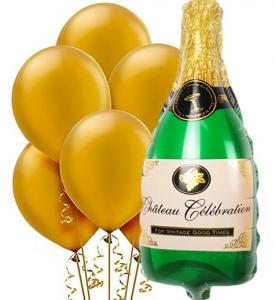 Champagne Ballongbukett