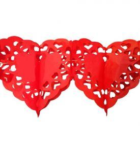 Pappersgirlang  hjärta