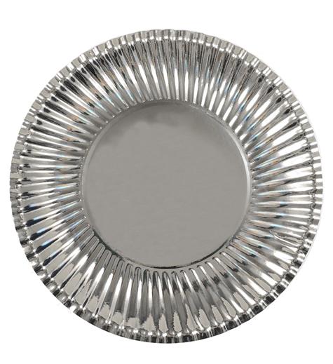 Attraktiva Papperstallrik Silver WV-81