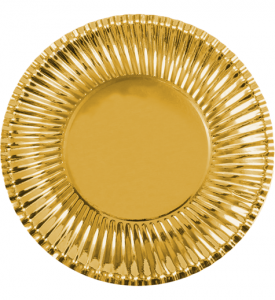 Små Papperstallrik Guld 18cm 10-pack