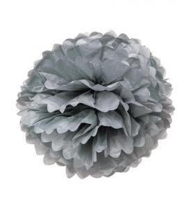 Pom Pom bollar 25cm Silver