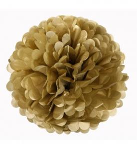 Pom Pom bollar 25cm Guld