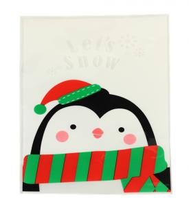 Presentpåsar pingvin 20x14cm
