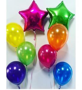 Regnbåge Stjärna ballongbukett