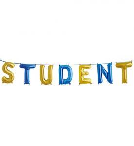 Student Bokstavsgirland Blå/guld