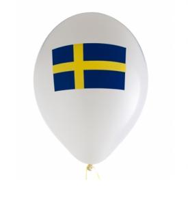 Studentballong med Sverige Flagga