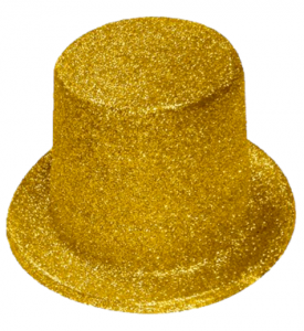 Tophatt liten Guld