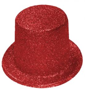 Tophatt liten röd