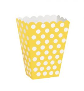 popcornbägare prickigt blå 8-pack
