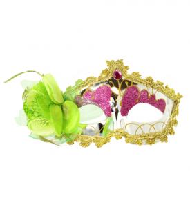 Venetiansk Ögonmask med Blomma Grön