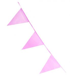 Vimpelgirlang rosa 10m