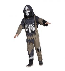 Zombie skelett Barn Maskeraddräkt 4-6 år
