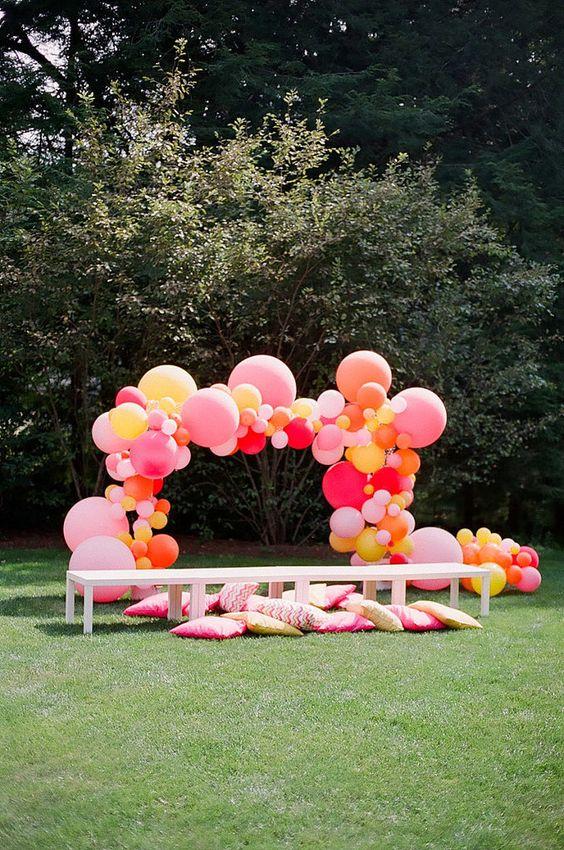 Ballongbåge Latexballonger Organisk