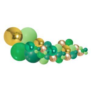 Organisk Ballonggirland Grön & Guld 2 meter