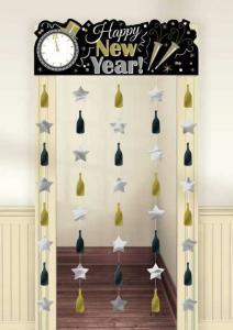 Nyårs dörr dekoration