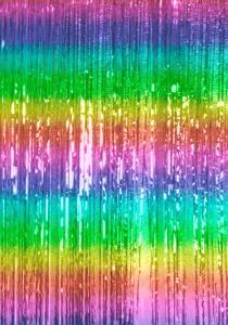 glitter Dörrdraperi regnbåge ombre