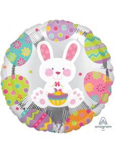 kanin med påskägg helium ballong