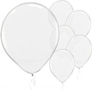 Latex ballonger transparent/genomskinlig