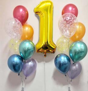 födelsedags ballongbukett regnbåge