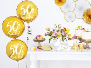 Heliumballong Guld 50år
