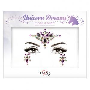 Dekorationsstenar Ansikte Unicorn Dreams