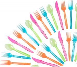 Färgglada plastgafflar