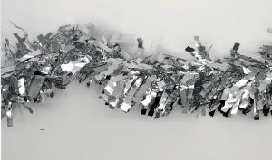 Julglitter räfflad silver