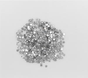 Konfetti silver stjärnor små