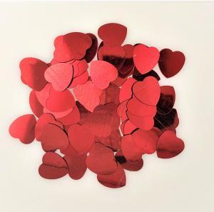 Konfetti hjärtan röd