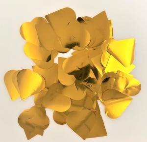 Konfetti hjärtan guld stora