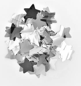 Konfetti stjärnor silver mellan