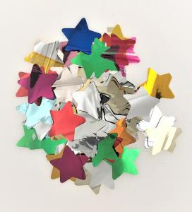 Konfetti stjärnor multicolor mellan