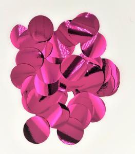 Konfetti runda cerise rosa