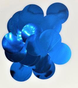 Konfetti runda blå stora
