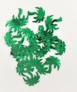 Konfetti palmer grön
