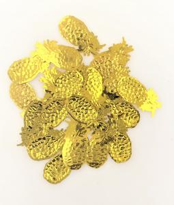Konfetti ananas guld