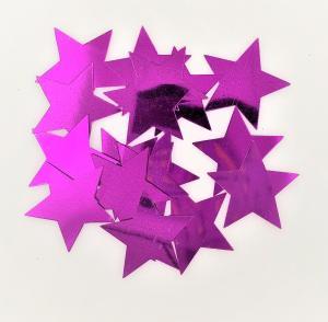 Konfetti stjärna cerise rosa stora