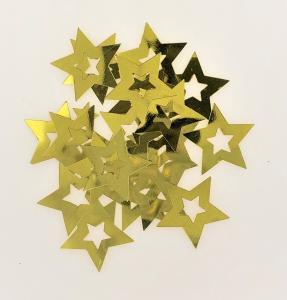 Konfetti stjärna guld ihålig