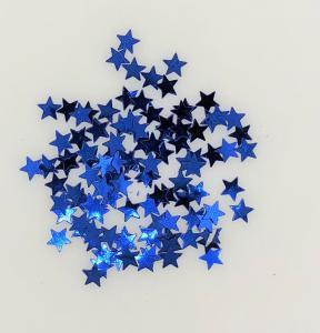 Konfetti stjärna blå små