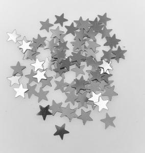 Konfetti stjärna silver små