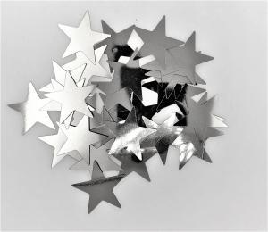 Konfetti stjärna silver stor
