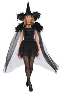Feather witch cape