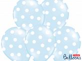 Latexballonger Ljusblå Prickig 30cm