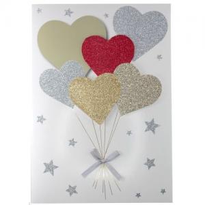 Handgjorda A4 Hjärta & Ballonger