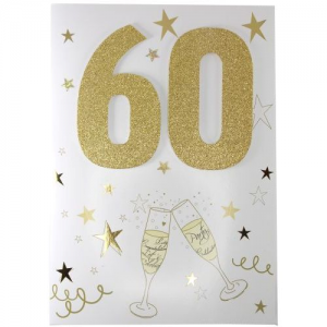 Handgjorda A4 Sparkel 60år