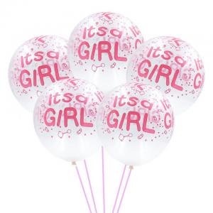 Ballong it's a girl Latexballonger 11""