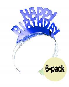 happy birthday papperstiara blå
